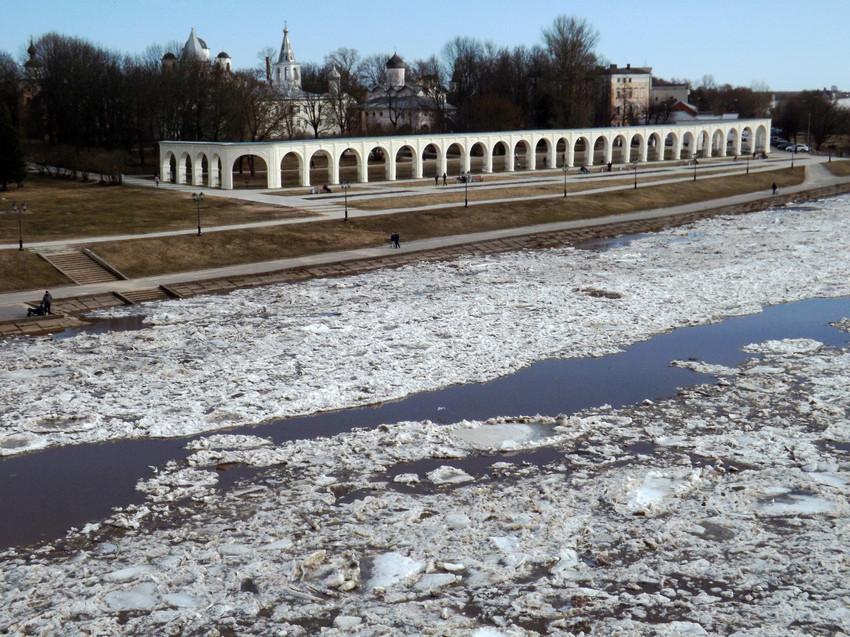 Великий Новгород, ледоход