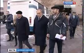 """Embedded thumbnail for """"Вести - Великий Новгород"""": наш выбор.  Губернатор С. Митин в """"Автобусном парке"""""""
